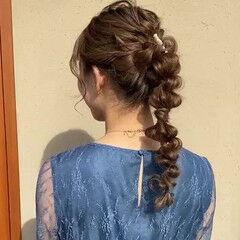 ロング 二次会ヘア ナチュラル 結婚式ヘアアレンジ ヘアスタイルや髪型の写真・画像