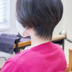 ショートヘア ショートボブ ハンサムショート ショート ヘアスタイルや髪型の写真・画像