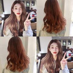 セミロング オルチャン 大人かわいい 渋谷系 ヘアスタイルや髪型の写真・画像
