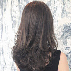 似合わせカット アッシュグレージュ グレージュ ミディアム ヘアスタイルや髪型の写真・画像