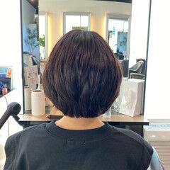 ハイライト ボブ 内巻き ミニボブ ヘアスタイルや髪型の写真・画像
