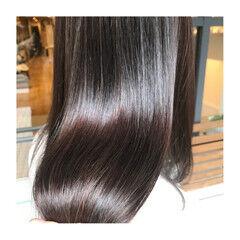 髪質改善トリートメント ナチュラル イルミナカラー ロング ヘアスタイルや髪型の写真・画像