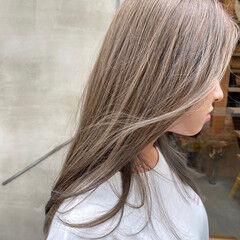 セミロング 透明感カラー 透明感 お洒落 ヘアスタイルや髪型の写真・画像