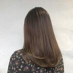 髪質改善 セミロング デート ナチュラル