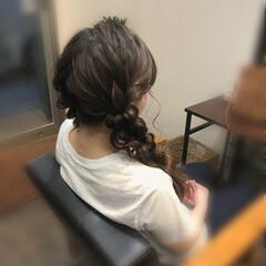 玉ねぎ ヘアセット 編み込み ツインテール ヘアスタイルや髪型の写真・画像