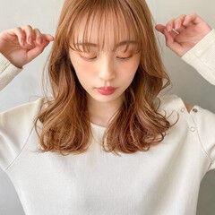 ヘアアレンジ アンニュイほつれヘア ミディアム 韓国 ヘアスタイルや髪型の写真・画像