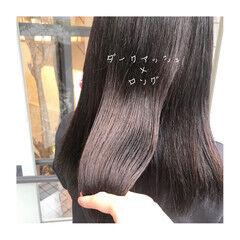 セミロング ナチュラル イルミナカラー カラートリートメント ヘアスタイルや髪型の写真・画像
