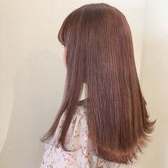 ラベンダーピンク エアリー ガーリー ブリーチ必須 ヘアスタイルや髪型の写真・画像
