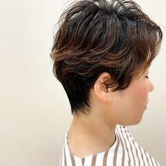 ショートヘア ベリーショート ツーブロック ショート ヘアスタイルや髪型の写真・画像