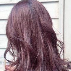 ノーブリーチ フェミニン ブリーチなし セミロング ヘアスタイルや髪型の写真・画像