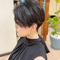 ハンサムショート ベリーショート エレガント 刈り上げ女子 ヘアスタイルや髪型の写真・画像