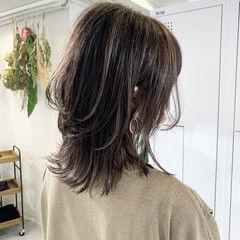 ストリート 大人ハイライト ハイライト ベージュ ヘアスタイルや髪型の写真・画像