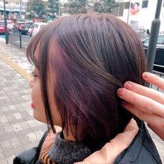 ヘアアレンジ ナチュラル ボブ 濡れ髪スタイル ヘアスタイルや髪型の写真・画像