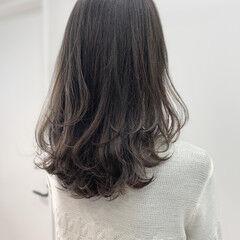 モテ髪 くびれカール ナチュラル ミディアム ヘアスタイルや髪型の写真・画像