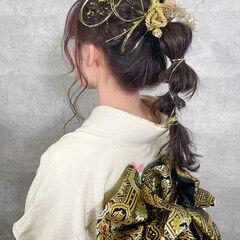 ナチュラル ヘアアレンジ ロング 結婚式ヘアアレンジ ヘアスタイルや髪型の写真・画像
