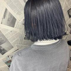 ボブ ワンレングス 切りっぱなしボブ コンサバ ヘアスタイルや髪型の写真・画像