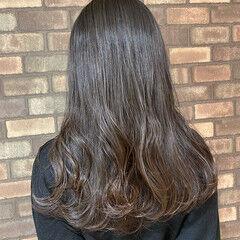 透明感 イルミナカラー スロウ ロング ヘアスタイルや髪型の写真・画像