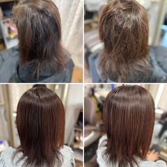 髪質改善 髪質改善カラー 髪質改善トリートメント ロング ヘアスタイルや髪型の写真・画像