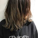 バレイヤージュ 外国人風カラー アンニュイほつれヘア グラデーションカラー