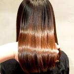 ナチュラル 艶髪 美髪 うる艶カラー