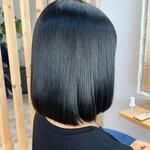 透明感カラー イルミナカラー 切りっぱなしボブ ショートヘア