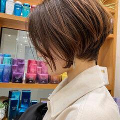 ナチュラル PEEK-A-BOO 似合わせカット ショートボブ ヘアスタイルや髪型の写真・画像