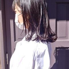 デザインカラー ミディアム ナチュラル 大人可愛い ヘアスタイルや髪型の写真・画像
