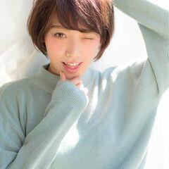 田中美保 ショート アッシュ ストリート ヘアスタイルや髪型の写真・画像