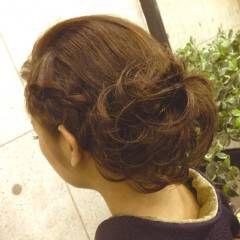 ショート 和装 ヘアアレンジ 編み込み ヘアスタイルや髪型の写真・画像