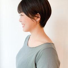 コンパクトショート ショートヘア 黒髪ショート 小顔ショート ヘアスタイルや髪型の写真・画像