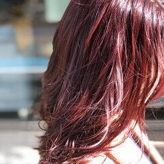 ヘアカラー レディース エレガント セミロング ヘアスタイルや髪型の写真・画像