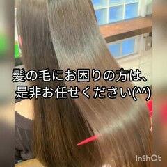 髪質改善 ナチュラル トリートメント 縮毛矯正 ヘアスタイルや髪型の写真・画像
