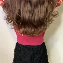 ロング ダウンスタイル フェミニン 外国人風カラー ヘアスタイルや髪型の写真・画像