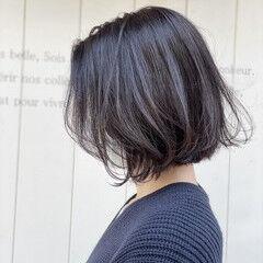 ショートボブ ボブ 黒髪ショート ブルーブラック ヘアスタイルや髪型の写真・画像