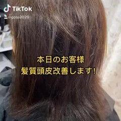 エレガント 髪質改善カラー 髪質改善トリートメント ココアベージュ ヘアスタイルや髪型の写真・画像