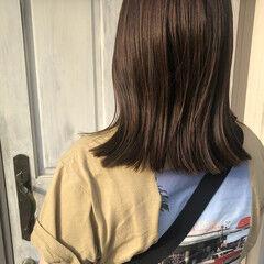 透明感カラー くすみカラー ミディアム ナチュラル ヘアスタイルや髪型の写真・画像