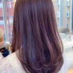 セミロング コンサバ セミディ レイヤーカット ヘアスタイルや髪型の写真・画像