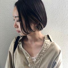 暗髪 暗色カラー ナチュラル インナーカラー ヘアスタイルや髪型の写真・画像