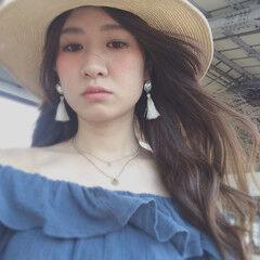 ゆるふわ ヘアアレンジ ハット ロング ヘアスタイルや髪型の写真・画像