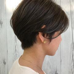 前下がり 色気 グレー ショート ヘアスタイルや髪型の写真・画像