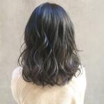 透明感カラー アンニュイほつれヘア 暗髪 外国人風カラー
