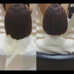 ナチュラル 髪質改善トリートメント ミニボブ 髪質改善
