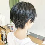 大人かわいい ベリーショート ナチュラル 黒髪