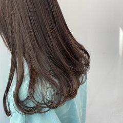 フェミニン デート ラベンダーアッシュ 春 ヘアスタイルや髪型の写真・画像