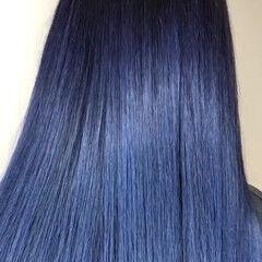 ブリーチ 青紫 ブルーバイオレット ガーリー ヘアスタイルや髪型の写真・画像