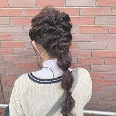 ロング ふわふわヘアアレンジ 簡単ヘアアレンジ お呼ばれヘア ヘアスタイルや髪型の写真・画像