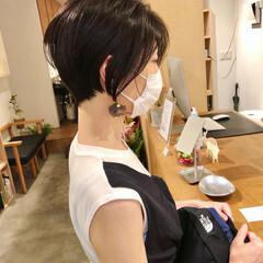 ショート ショートヘア 黒髪 ストリート ヘアスタイルや髪型の写真・画像