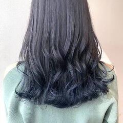 インナーカラー グラデーションカラー ナチュラル ロング ヘアスタイルや髪型の写真・画像