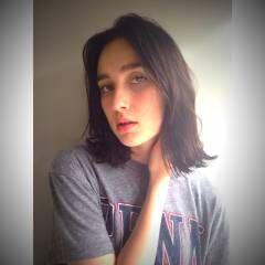 ミディアム ウェーブ 暗髪 ストリート ヘアスタイルや髪型の写真・画像