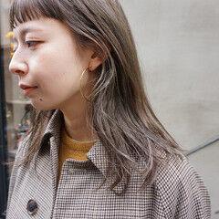 ミディアム 透明感カラー 透明感 お洒落 ヘアスタイルや髪型の写真・画像